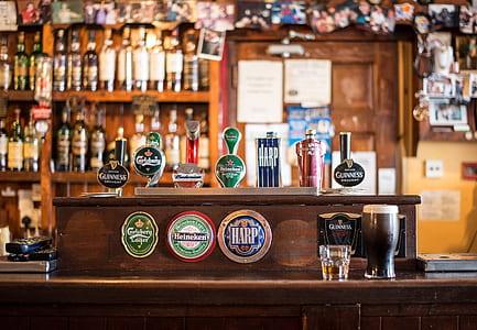 assorted beer taps