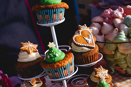 Christmas decorated muffins