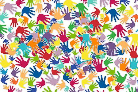 human hands digital wallpaper
