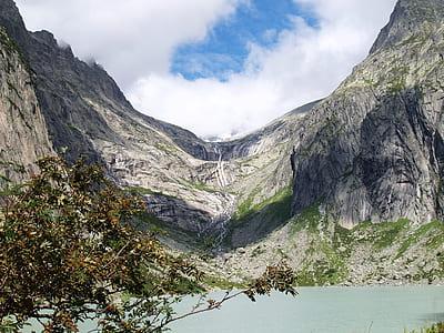 landscape photo of black and white mountain range during daytime