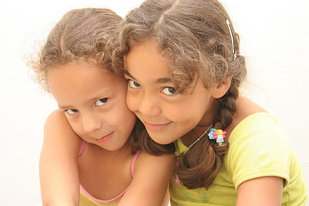 two girl taking selfie