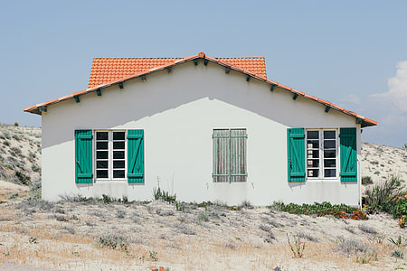 white painted house