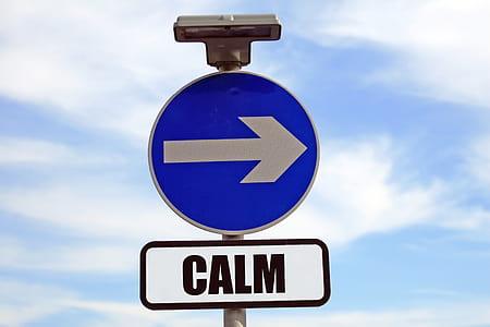 Calm-printed road signage