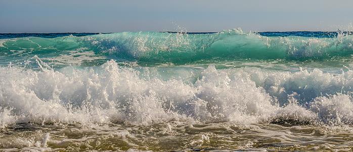 ocean wave near beach