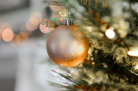 Gold Christmas Ball Decor