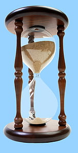 brown wooden framed sand hourglass