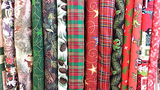 assorted-color-and-pattern textile lot