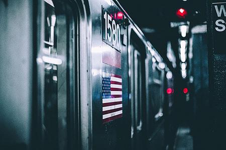 Subway train in New York City