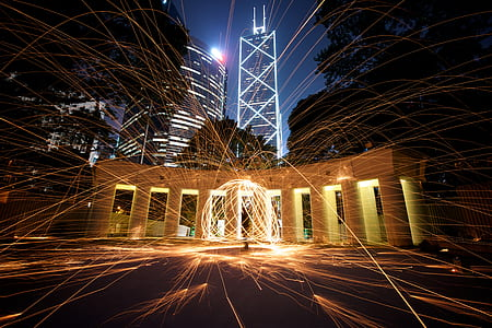 firework timelapse photograph