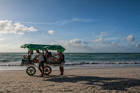 This image of two local beach vendors was captured on the beach in Varadero, Cuba.