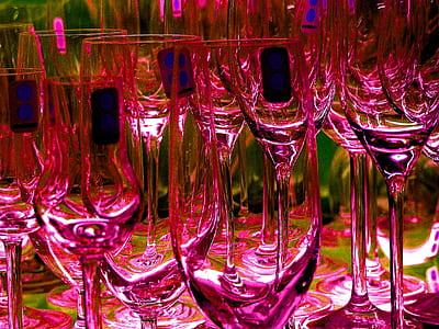 pink wine glasses