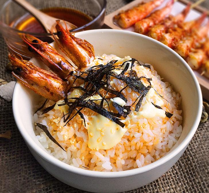 Rice  with  Shrimp oil