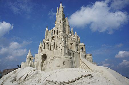 white sand castle