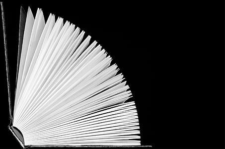 black hardbound book on black surface