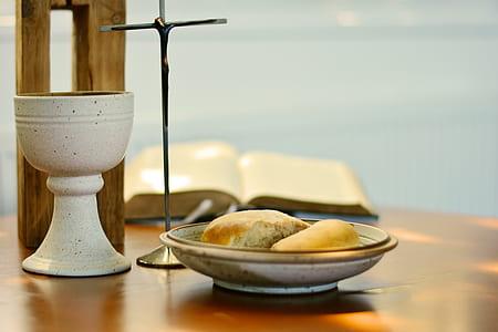 baked pan in round white ceramic bowl