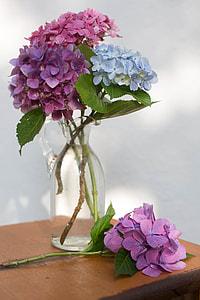 assorted-color flower arrangement in vase