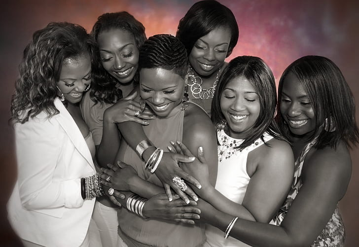 group of woman laughing