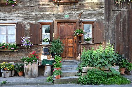 brown wooden 3-panel door
