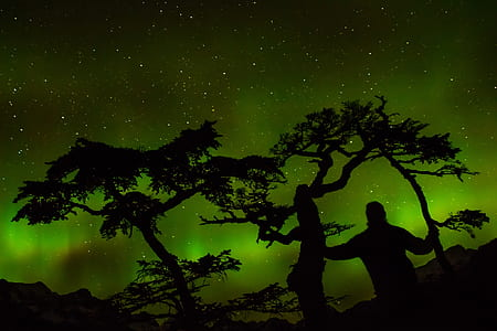 Green Aurora Light