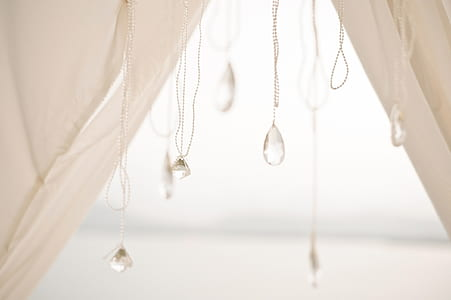 beaded white pendant necklaces
