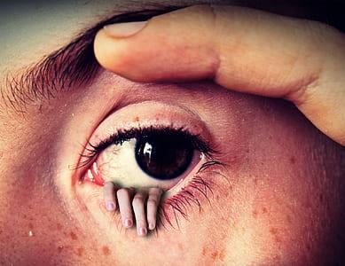 closeup photo of persons eye