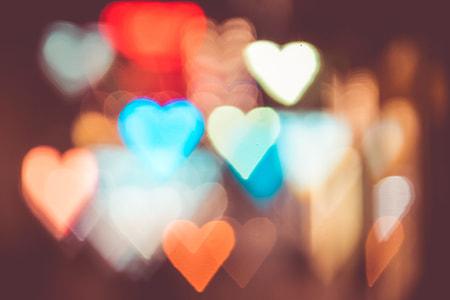 Night City Lights Abstract Heart Bokeh Trick