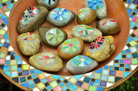 assorted-color decorative stones
