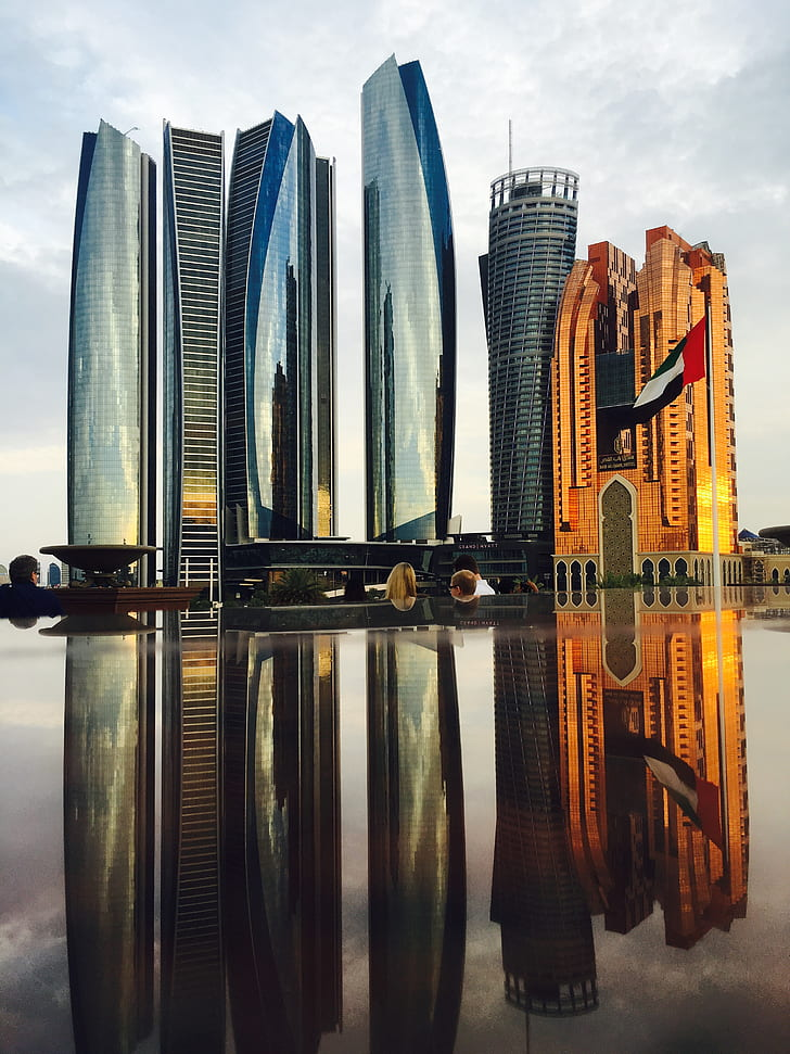 Reflection of Skyscrapers in City