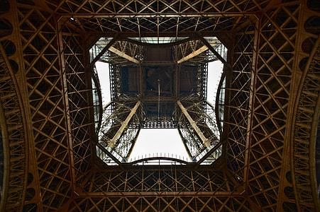 ground view of Eiffel tower