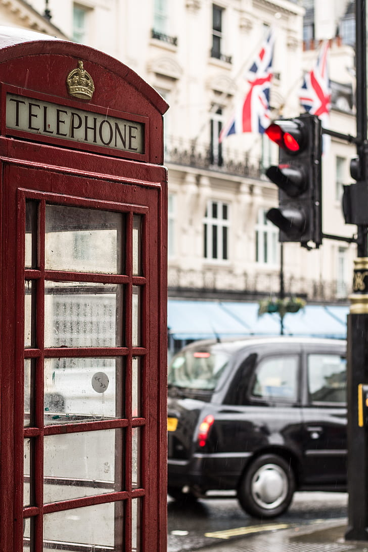 telephone booth, london, street view, cabin, travel
