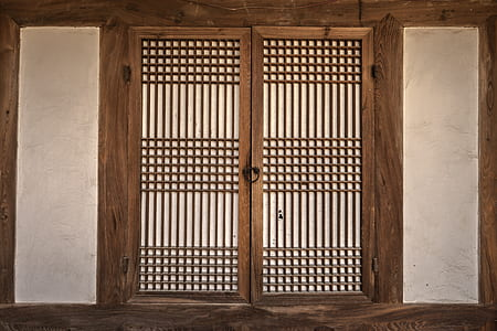 white and gray wooden window