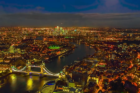 London over view photography