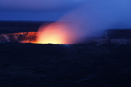 Volcano Light Lava Flare