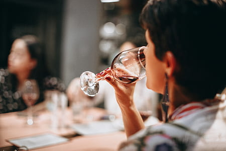 Person Drinking Wine