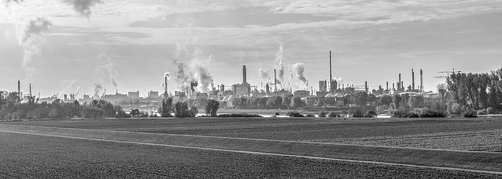Greyscale photography of city skyline