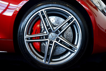 Alloy wheel of car