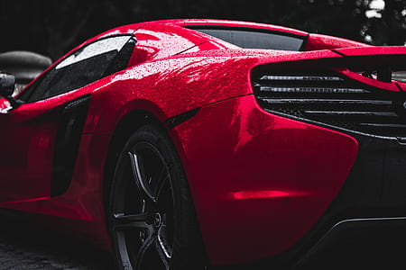 red McLaren MP4-12C coupe
