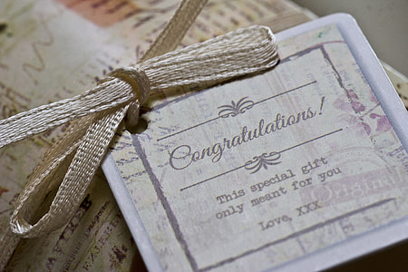 close up photography of Congratulation card