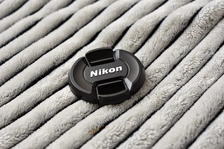 Black Nikon Dslr Camera Lens Cover