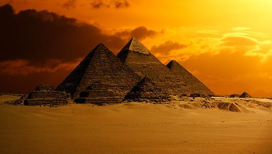 Pyramids of Giza digital wallpaper