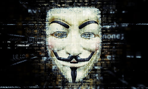 photo Guy Fawkes mask logo