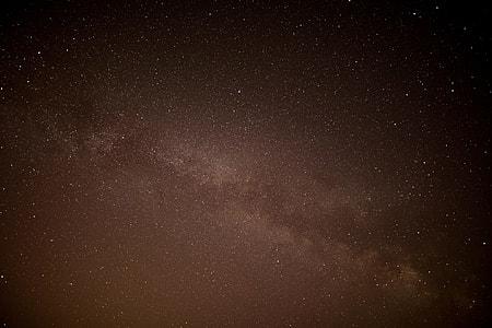 night, star, sky, dark