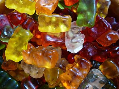 closeup of gummy bears candies