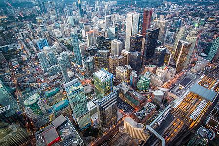 Cityscape shot of Toronto in Canada