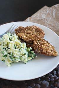 Chicken Schnitzel with mashed potatoes