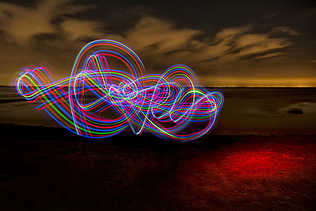Light painting abstract image