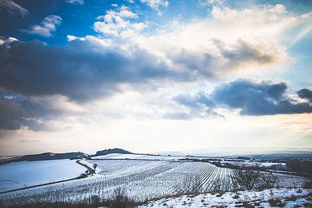 Czech Cloudy Winter Scenery