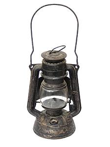 black tubular lamp