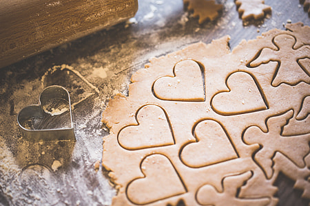 Baking Christmas Lovely Hearts Sweets