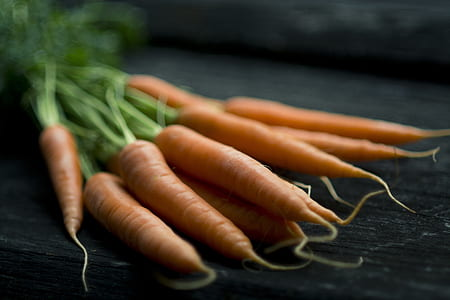 orange carrots in selective focus photography